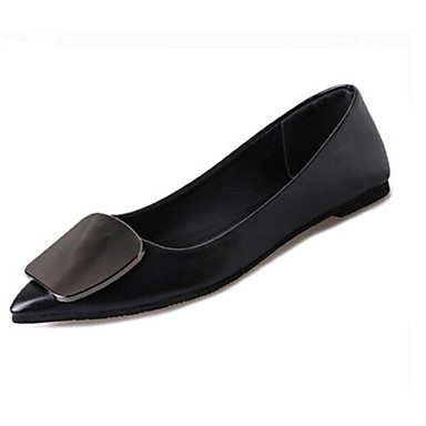 Damen Schuhe Lackleder PU Frühling Komfort Sandalen Für Normal Schwarz Silber Champagner