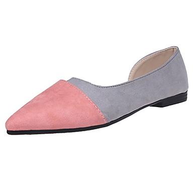 Damen Flache Schuhe Komfort Kaschmir Sommer Normal Walking Kombination Flacher Absatz Schwarz Rosa 2,5 - 4,5 cm