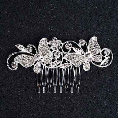 Alloy Hair Combs / Headwear with Floral 1pc Wedding / Special Occasion / Birthday Headpiece