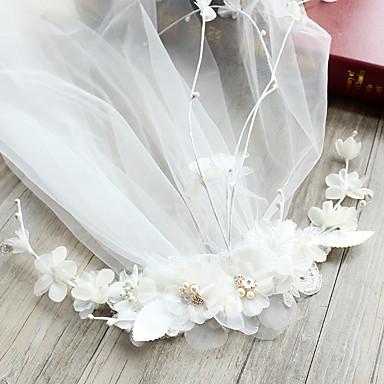 Tüll Künstliche Perle Spitze Seide Netz Aleación Blumen Haarclip Kopfschmuck