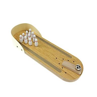Asztali bowling / Labdák / Bowling Játékok Mini / A Killing Time Fa Uniszex Gyermek Ajándék