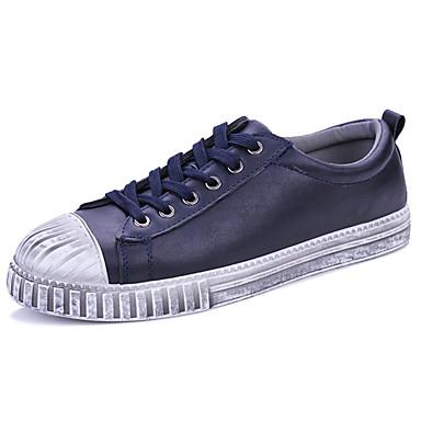 Herrn Schuhe Stoff Frühling Herbst Komfort Sneakers Schnürsenkel für Draussen Schwarz Gelb Blau