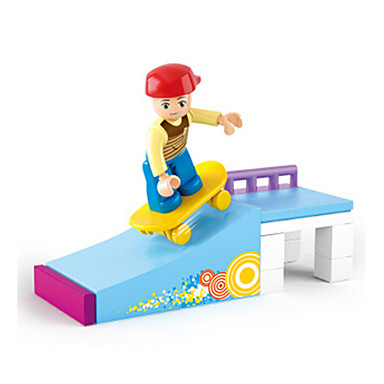 baratos Brinquedos de Montar-Blocos de Construir Bonecos em Blocos de Montar Brinquedos de Faz de Conta Castelo Casa Animais Para Meninas Brinquedos Dom