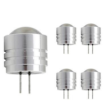 5pcs 1W 90lm G4 أضواء LED Bi Pin T 1 الخرز LED طاقة عالية LED أبيض دافئ أبيض كول 12V