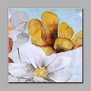 رسمت باليد الأزهار/النباتية مربع, الحديث كنفا هانغ رسمت النفط الطلاء تصميم ديكور المنزل لوحة واحدة