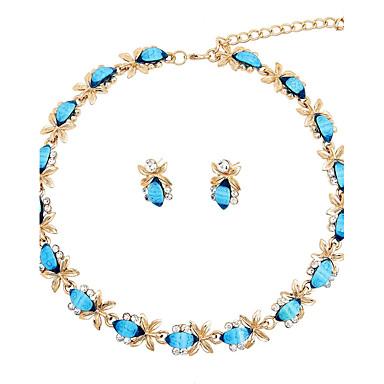 Női Ékszer szett Nyaklánc - Arannyal bevont Kék / Esküvő / Parti / Eljegyzés / Ajándék