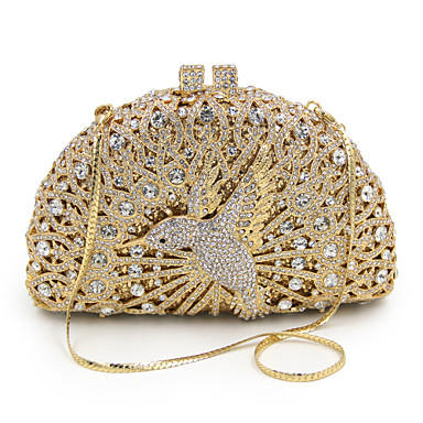 Női Táskák Fém Patent Fémes Arany / Tekintettel Crystal Evening Bags / Tekintettel Crystal Evening Bags