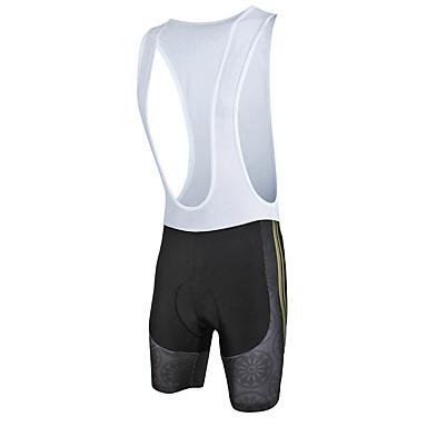 ILPALADINO Férfi Kerékpáros kantáros nadrág Divat Bike Kantáros rövidnadrág / Alsók 3D-s párna, Gyors szárítás, Anatómiai tervezés