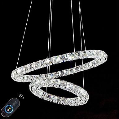 Divatos és modern Csillárok Háttérfény - Kristály / Állítható / Tompítható, 110-120 V / 220-240 V, Távirányítóval szabályozható, LED