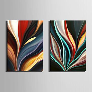 Hang festett olajfestmény Kézzel festett - Absztrakt Absztrakt Vászon