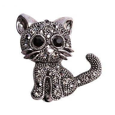 Női Cat Melltűk - Állati Állat Fekete Bross Kompatibilitás Esküvő / Hétköznapi / Estély