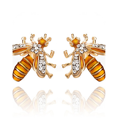 6eb994009 Women's Synthetic Diamond Stud Earrings Earrings Bee Ladies Classic Fashion  Jewelry Gold For Party Gift Daily Evening Party Stage