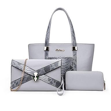 Női Táskák PU táska szettek 3 db erszényes készlet mert Hétköznapi Bézs / Szürke / Fukszia