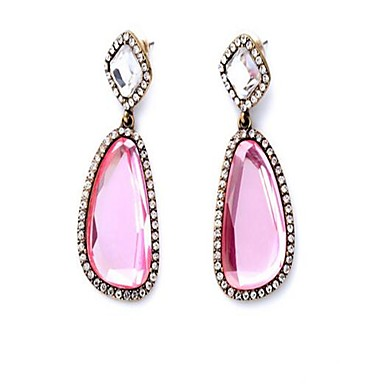 Women's Drop Earrings - Personalized, Fashion, Cute Pink For Party / Evening Party / Stage / Oversized