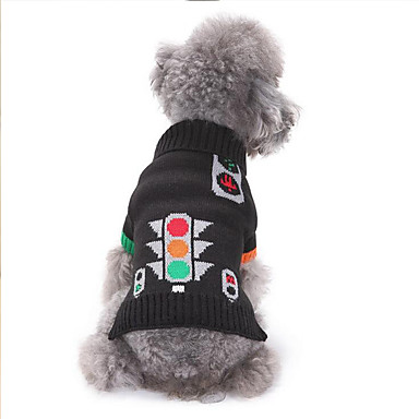 Dog Sweater Dog Clothes Cartoon Cotton Costume For Pets Men's / Women's Casual / Daily