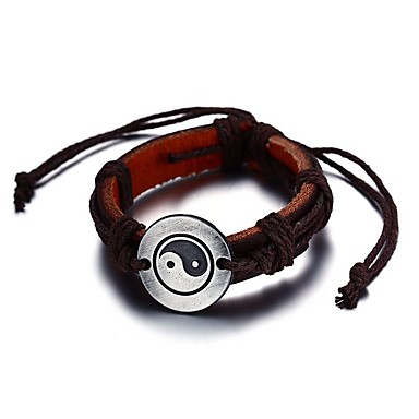 Men's Leather Bracelet - Friends Luxury, Vintage, Bohemian Bracelet Brown For Christmas Christmas Gifts Party