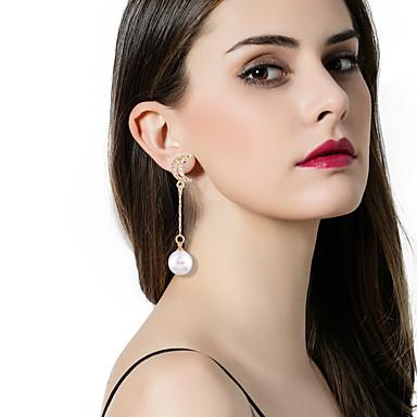 Női Luxus / Bikini / Eltérés Mások / Zvijezda Gyöngyutánzat Gyöngyutánzat Rendhagyó fülbevalók - Luxus / Bikini / Divat Arany / Ezüst