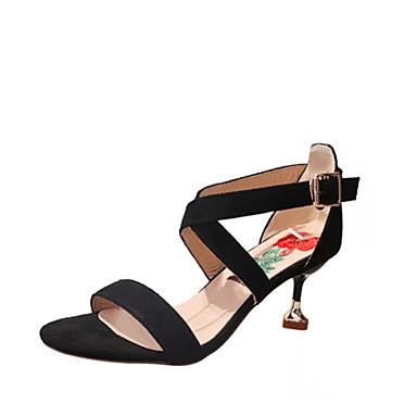 Damen Sandalen Komfort Sommer Gummi Walking Schnalle Block Ferse Schwarz Rot Grün Unter 2,5 cm