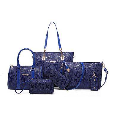 Damen Taschen PU Bag Set Reißverschluss für Normal Büro & Karriere Draussen Rote Fuchsia Braun