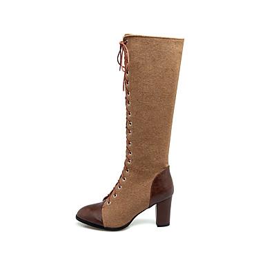 ... Bottes Hiver Cavalières Bottes à Femme Automne Synthétique de 06277733  Mode Bottes Cheville Talon Similicuir Chaussures ... 2434492791a6