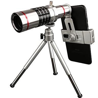 Mobiltelefon Lens Teleobjektív Üveg 18X makró iPhone / Samsung / Huawei
