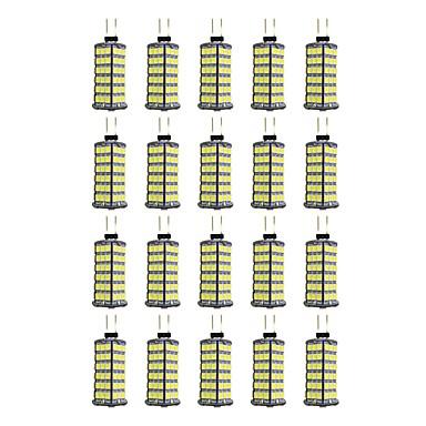 20pcs 4W 320lm G4 LED betűzős izzók 120 LED gyöngyök SMD 2835 Meleg fehér / Fehér 12V / 20 db.
