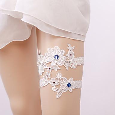 Elastic Leg Warmers Party Sexy Wedding Wedding Garter with Rhinestone Appliques Garters