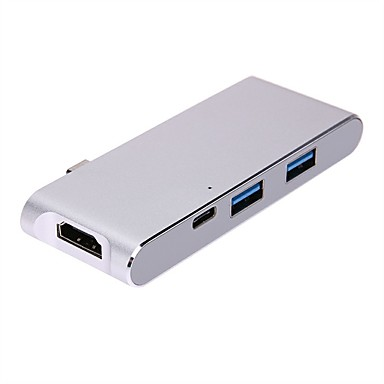 USB 3.1 Type C Adapter, USB 3.1 Type C to HDMI 1.4 USB 3.0 USB 3.1 Type C Adapter Papa - Mama 4K*2K 10 Gbps