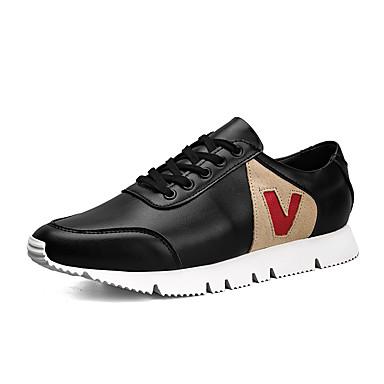 Férfi cipő Mikroszálas Tavasz Ősz Kényelmes Tornacipők Fűző mert Sport Hétköznapi Fehér Fekete
