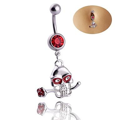 ترف زركون خاتم السرة / ثقب البطن - للمرأة أحمر ترف / هندسي / كلاسيكي Geometric Shape مجوهرات الجسم  من أجل عيد الميلاد / هدية / خشبة