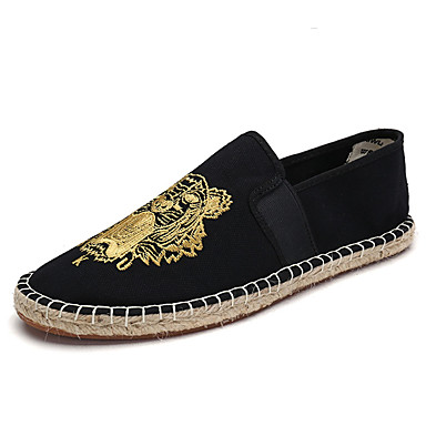 Damen Loafers & Slip-Ons Komfort Stoff Frühling Herbst Normal Flacher Absatz Gold Beige Grün Flach