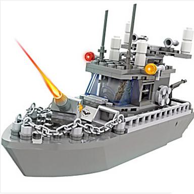 Bausteine Modellbausätze Spielzeuge Kriegsschiff Militär Kunststoff Jungen Stücke