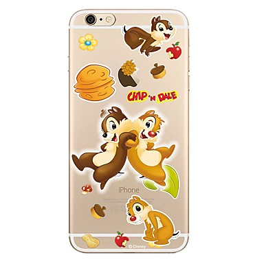 Case For Apple iPhone 7 / iPhone 7 Plus Transparent / Pattern Back Cover Cartoon Soft TPU for iPhone 7 Plus / iPhone 7 / iPhone 6s Plus