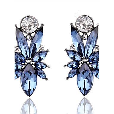 Női Leaf Shape Szintetikus gyémánt Beszúrós fülbevalók - Euramerican Arany / Bíbor / Kék Fülbevaló Kompatibilitás Karácsonyi ajándékok /