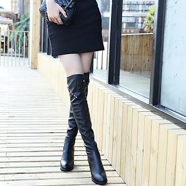 Femme Chaussures Polyuréthane Hiver Automne Confort Bottes Talon Bottier Bottes Bottes Bottes pour Habillé Soirée & EvéneHommes t Noir 6bb6bc
