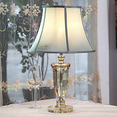 Tiffany Kristály Asztali lámpa Kompatibilitás Fém 220-240 V Átlátszó