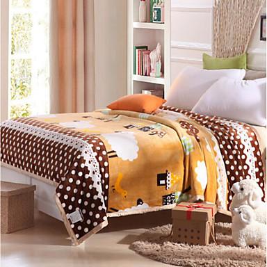 Flanell Geometrisch Baumwolle Decken