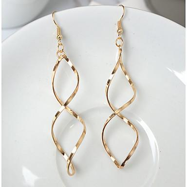 Women's Hoop Earrings - Twist Circle Geometric Gold / Silver For Daily / Date