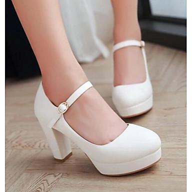 Beige Tacones Primavera Negro Mujer PU Rosa Confort Zapatos 06094164 vpnZEqY