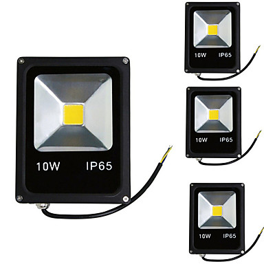 4pcs 10 W LED Floodlight / Lawn Lights Waterproof / Decorative Warm White / Cold White 85-265 V Outdoor Lighting 1 LED Beads