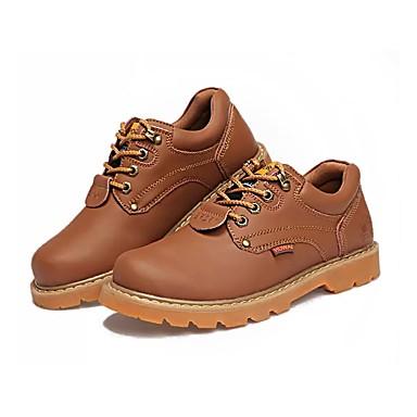 Férfi cipő PU Tavasz / Ősz Kényelmes Félcipők Sárga / Sötétbarna / Világosbarna