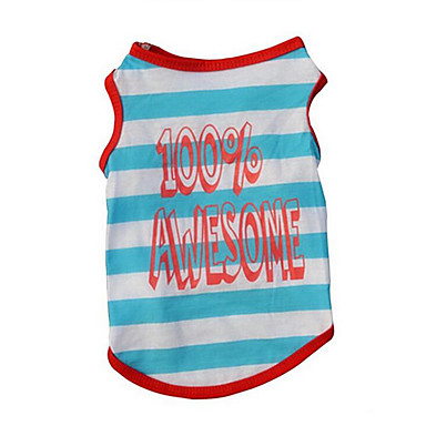 Dog Vest Dog Clothes Stripe Cotton Costume For Pets Summer Men's / Women's Casual / Daily