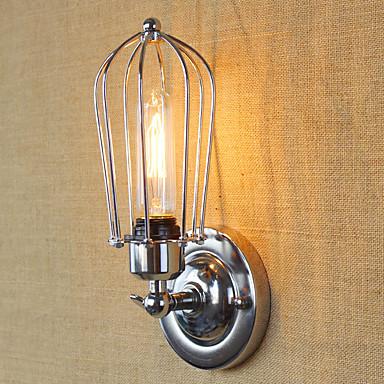 Egyszerű Vintage Retro Ország Fali lámpák Kompatibilitás Fém falikar 110-120 V 220-240 V 40W