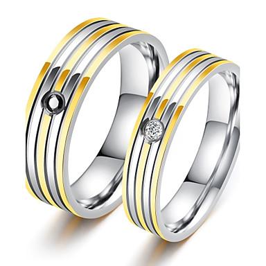Férfi Luxus Kocka cirkónia Band Ring - Circle Shape Luxus / Klasszikus / Szerelem Fehér Gyűrű Kompatibilitás Parti / Születésnap / Ajándék