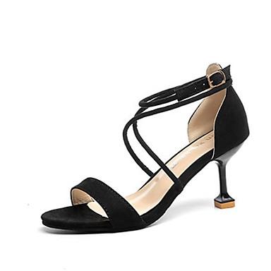 Damen Sandalen Komfort Kaschmir Sommer Normal Walking Stöckelabsatz Schwarz Grau Rosa 7,5 - 9,5 cm