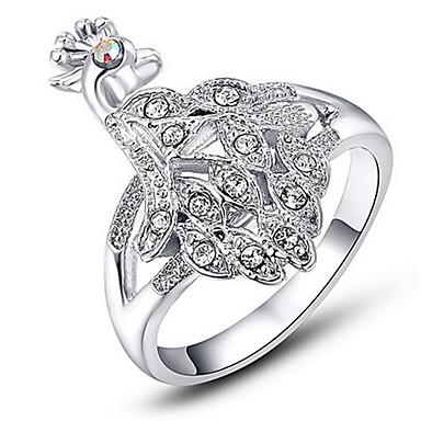 Damen Ringformen Bandringe Ring Kubikzirkonia Strass Personalisiert Luxus Einzigartiges Design Strass Grundlegend Freundschaft Simple