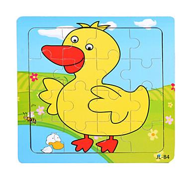 Holzpuzzle Bildungsspielsachen Ente Meerestier Tiere Holz Zeichentrick Unisex Geschenk