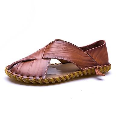 Homme Confort Sandales Eté Vrai 4aj35lr Chaussures Cuir D PZnN0OXw8k