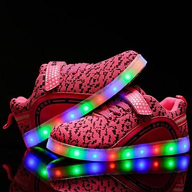 Mädchen Schuhe Tüll Winter Herbst Leuchtende LED-Schuhe Sneakers Walking LED für Normal Draussen Party & Festivität Schwarz Blau Rosa