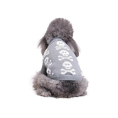 Hund Pullover Hundekleidung Knochen Baumwolle Daune Kostüm Für Haustiere Herrn Damen Lässig / Alltäglich Sport